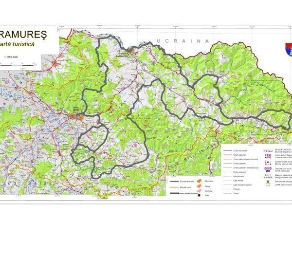 Harta Drumul Maramuresului