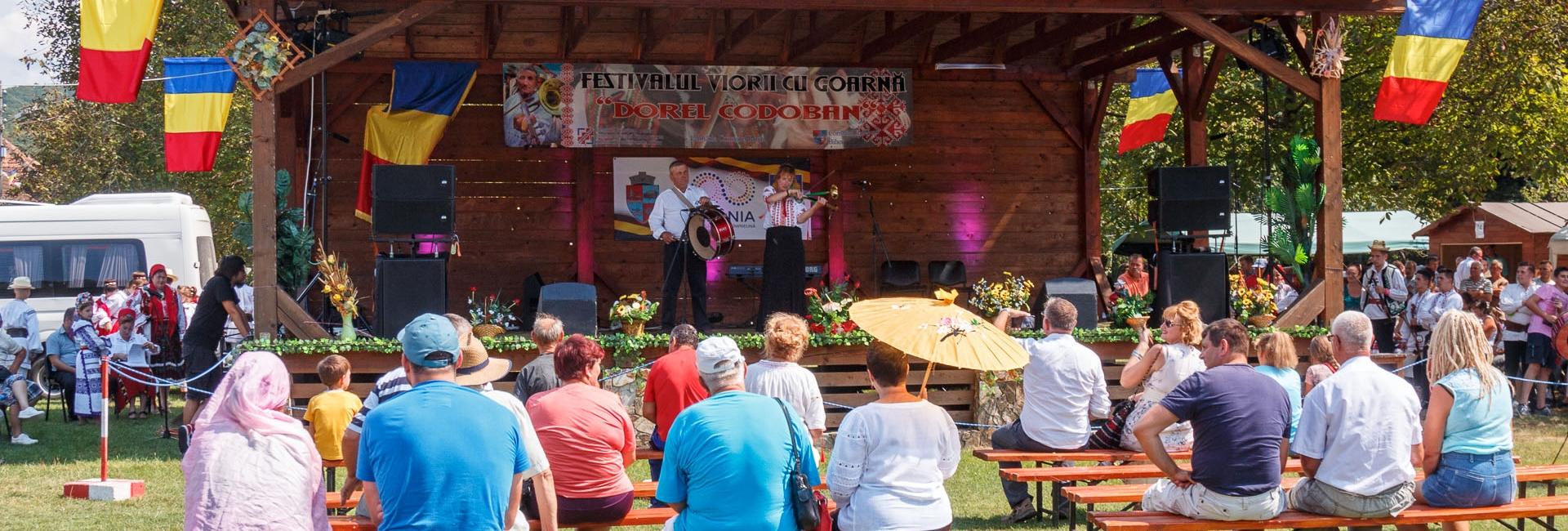 Festivalul viorii cu goarna Dorel Codoban