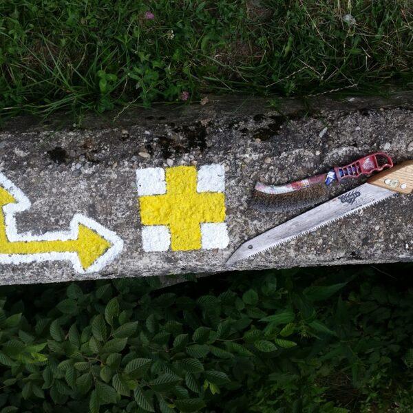 cruce galbenă, marcaj turistic