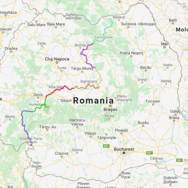 Harta Via Transilvanica
