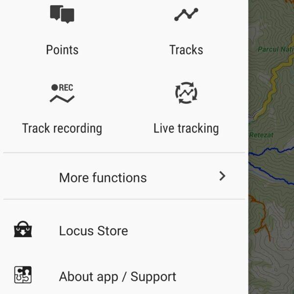 Aplicația Locus Map Free